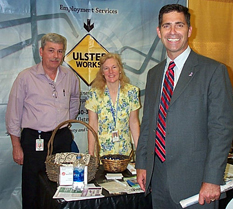County Executive Michael Hein with Ulster Works Staff at Busines Showcase